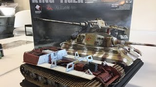 Building the New 1/35 Takom King Tiger with full interior part 3