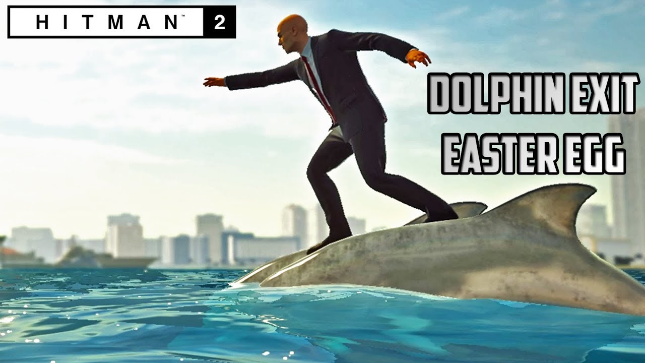 В Hitman 2 можно уплыть в океан верхом на дельфинах. Геймеры в восторге! — видео