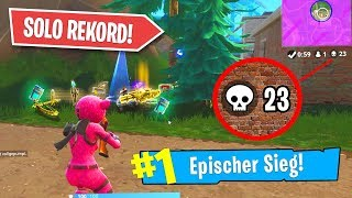 NEUER DEUTSCHER REKORD in FORTNITE! (SOLO)