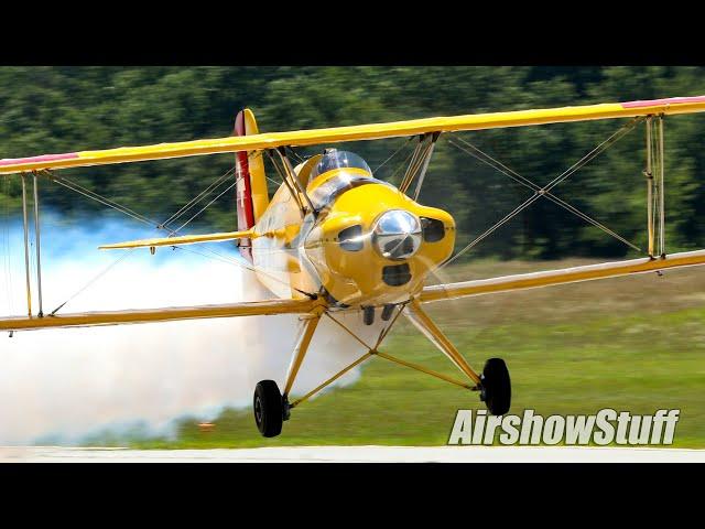 Bücker Jungmeister Aerobatic Practice - Jerry Wells Airshows