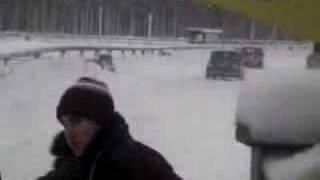 """Rallybrudar """"målgång Likenäs"""""""