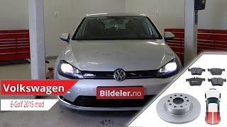 VW E-Golf: Hvordan bytte bremseskiver og bremseklosser bak - 2013 og nyere modeller