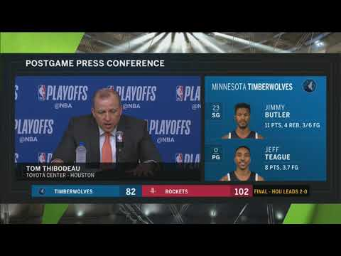 Timberwolves' Tom Thibodeau following Game 2 loss to the Rockets