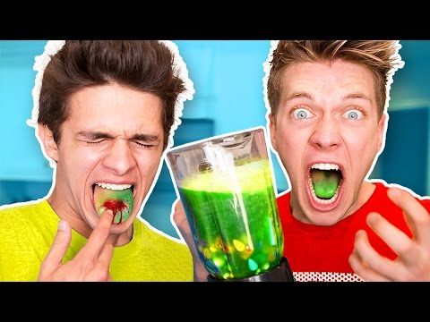 Thumbnail: SOUREST DRINK IN THE WORLD CHALLENGE!! Warheads, Toxic Waste Smoothie (EXTREMELY DANGEROUS)