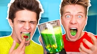 sourest drink in the world challenge warheads toxic waste smoothie extremely dangerous