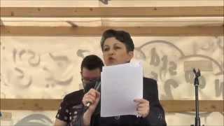 Rede Deidre Bergers (American Jewish Committee Berlin) gegen den Quds-Marsch in Berlin 2015