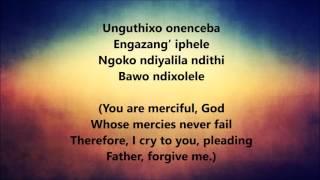 Bawo ndixolele  (Father, forgive me) - Lyrics video