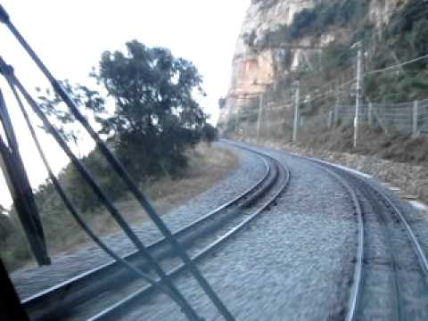 Travel Between Monistrol And The Monastery Of Montserrat