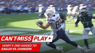 Hunter Henry's Unbelievable, One-Handed TD Grab! | Can't-Miss Play | NFL Wk 4 Highlights