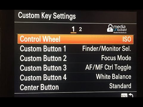 Sony A7R III – Setting Up Your Custom Function Buttons C1,C2,C3 Ect