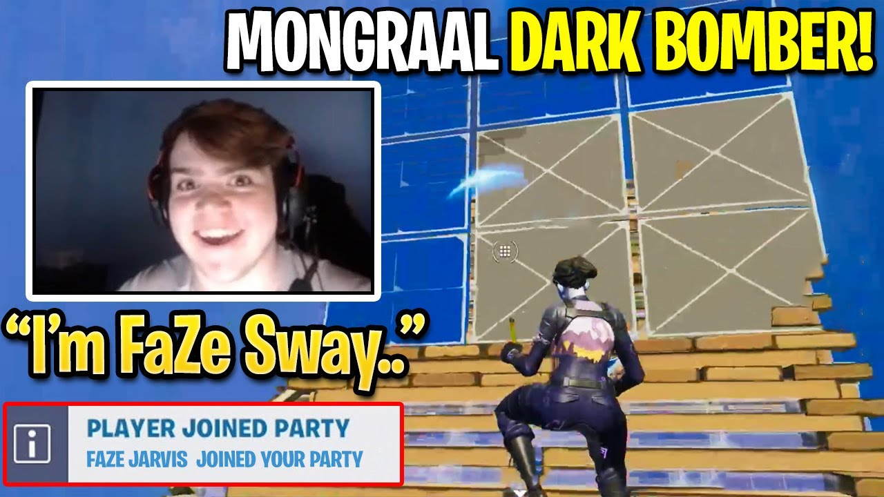 Mongraal Switches to FaZe Sway (Dark Bomber) Skin and then this happened... (Fortnite Season 3)