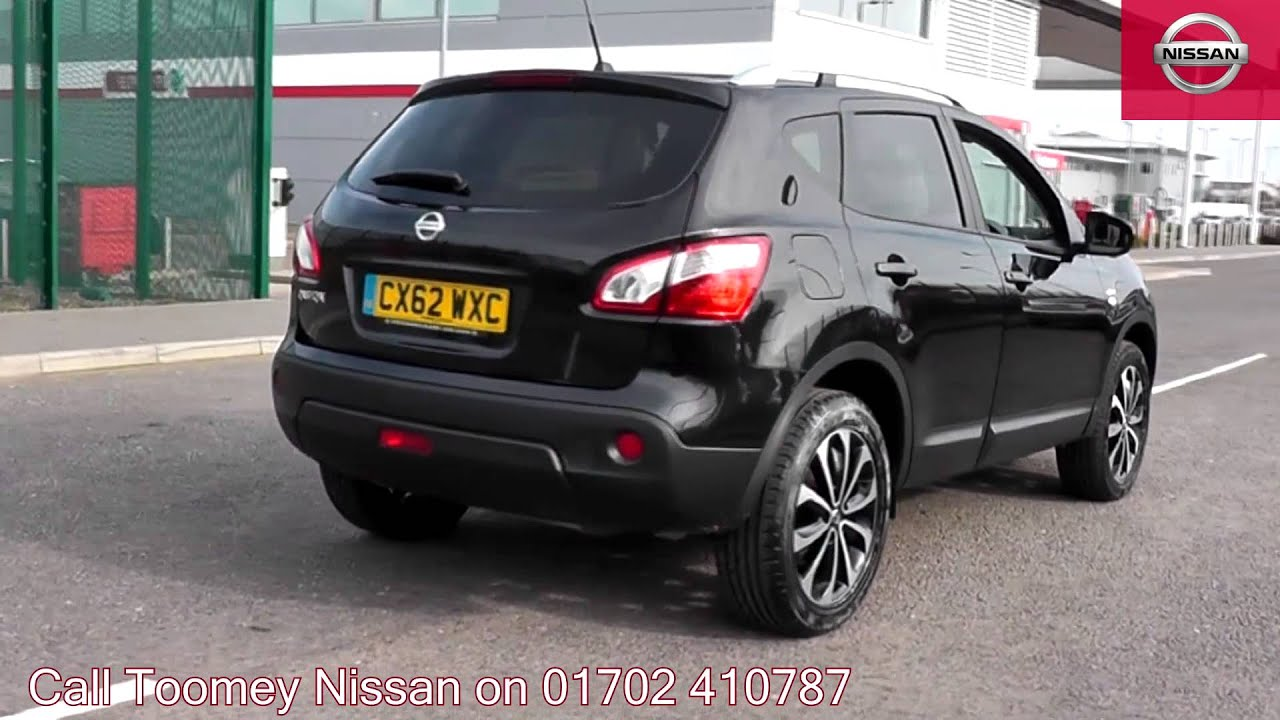 2012 nissan qashqai n tec black cx62wxc for sale at toomey nissan southend youtube. Black Bedroom Furniture Sets. Home Design Ideas