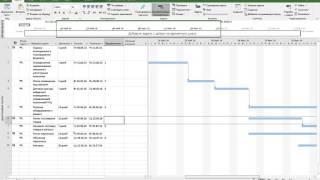 видео График производства работ - образец в excel, календарный, в строительстве, линейный, план