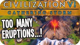 So Many VOLCANIC ERUPTIONS in Civilization VI Gathering Storm #16 (Pachacuti/Inca Civ 6)
