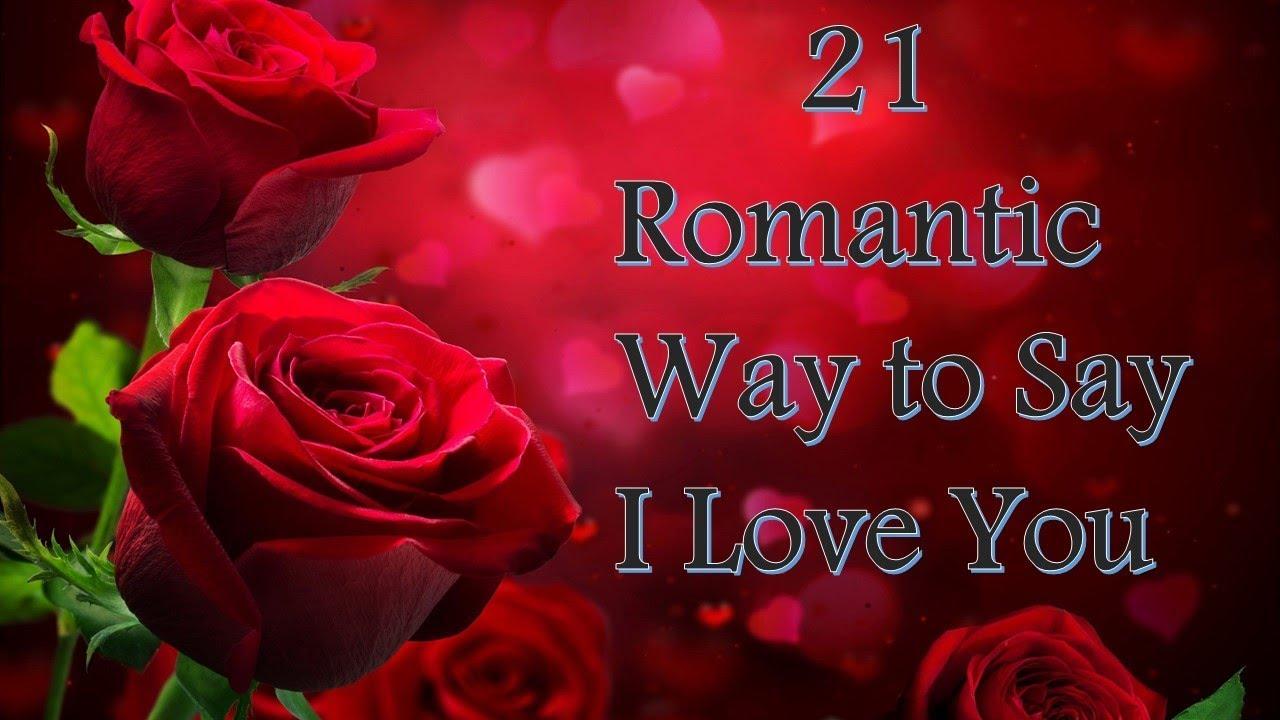 RAE: Romantic ideas to say i love you