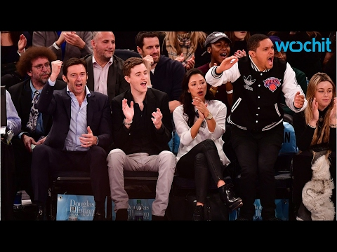 Trevor Noah Sits Courtside With His Girlfriend And Hugh Jackman
