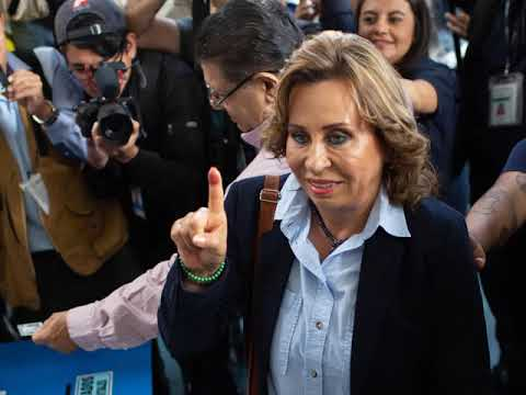 Former First Lady Leads In 1st Round Of Voting In Guatemala Presidential Election