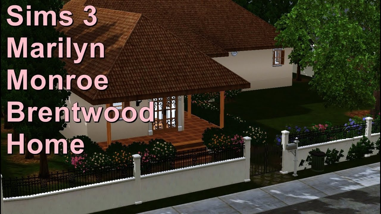 Marilyn Monroe House In Brentwood sims 3 marilyn monroe's brentwood home - youtube