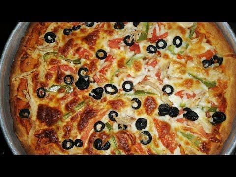 صورة  طريقة عمل البيتزا طريقه عمل البيتزا بعجينة سرية #الشيف_خلدون طريقة عمل البيتزا من يوتيوب