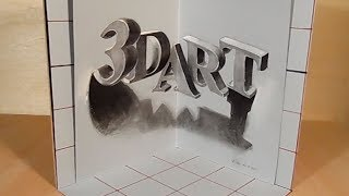 Drawing 3D Letters - How to Draw Letters Illusion - Vamos