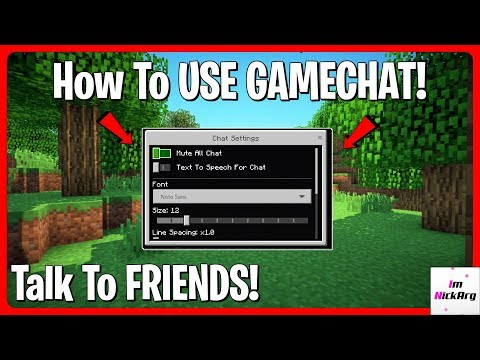 How To SET UP GAME CHAT In Minecraft Bedrock Edition! (Talk)