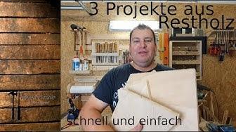 """Was tun mit den Holzresten?! 3 """"Mini- Projekte"""" für jedermann!"""
