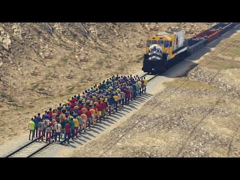 CAN 100 PEOPLE STOP THE TRAIN IN GTA 5? from YouTube · Duration:  3 minutes 1 seconds