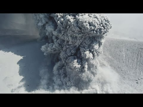 Incredible 4K Drone Stock Footage Volcanic Eruption Close Up