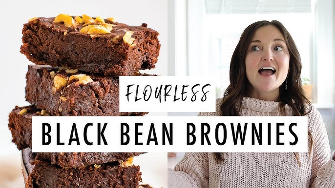How To Make Fudgy Black Bean Brownies Flourless Gluten Free Youtube