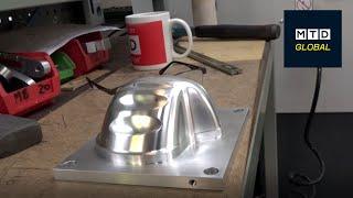 Newport CNC machining face mask mould on HAAS Mini Mill