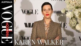 Karen Walker backstage interview at Vogue Codes 2019 in Sydney   Vogue Codes   Vogue Australia
