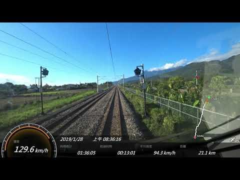 2019.1台鐵 402次TEMU1000太魯閣號 花蓮-台東 SONY FDR-X3000 Action Cam GPS 參數資料 路程景