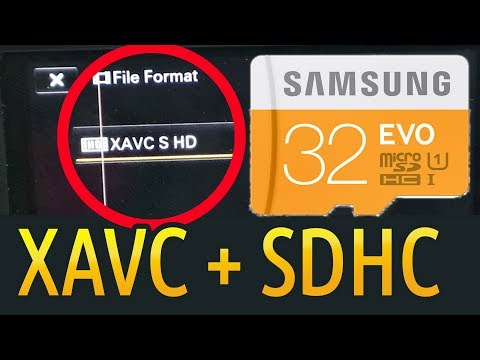 Record XAVC S on SDHC/microSDHC Card (Sony Camera/Camcorder ExFAT Hack)