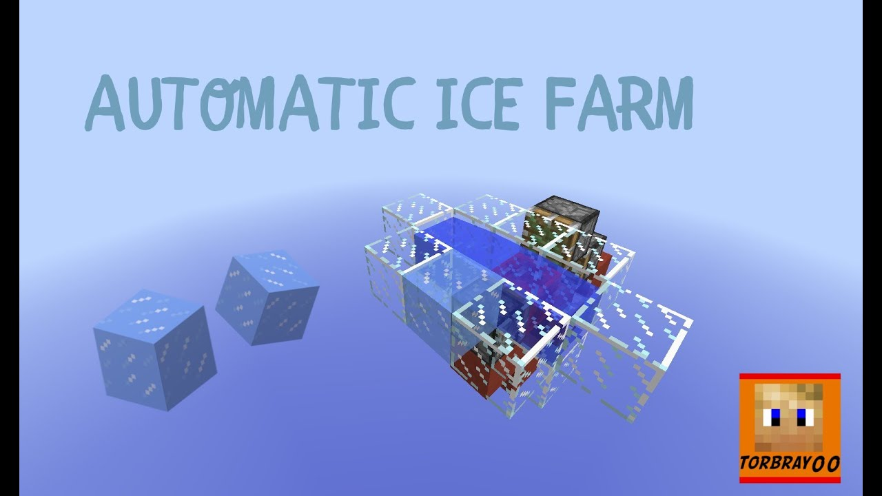 Minecraft S Simple Tutorial Automatic Ice Farm Youtube Flat world generator for minecraft. minecraft s simple tutorial automatic ice farm