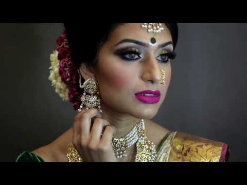 South Asian Tamil Bridal Makeover by ViVa Hair and Makeup Artist