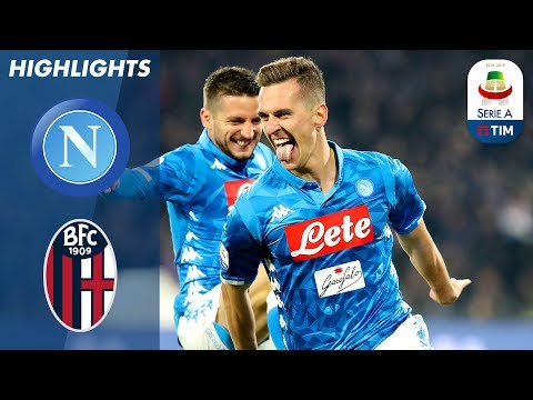 Napoli 3-2 Bologna | Milik Double & Late Mertens Winner as Napoli Edge Out Bologna | Serie A