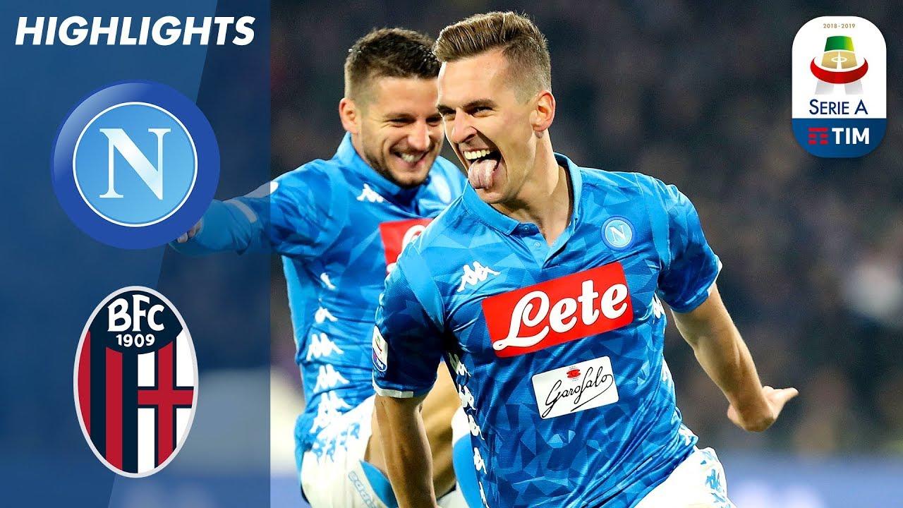 Napoli 3 2 Bologna Milik Double Late Mertens Winner As