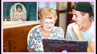 grandma reacts to look what you made me do   taylor swift music video