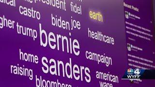 Clemson University's Social Media Listening Center monitors talk online about presidential candid...