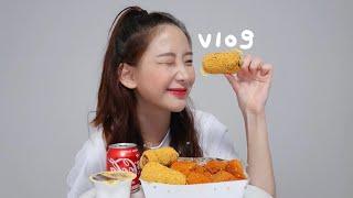 먹방브이로그 | 핫뿌링클,뿌링핫도그,짬뽕,뚜레쥬르신상,…