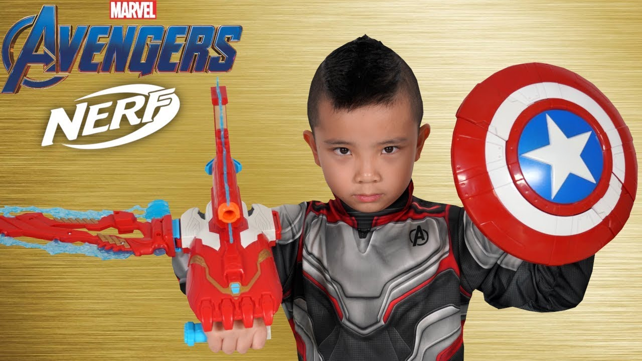 NERF Avengers Endgame Gear Test With CKN Toys