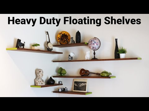 DIY Floating Wall Shelves and Hardware for Heavy Duty Shelves