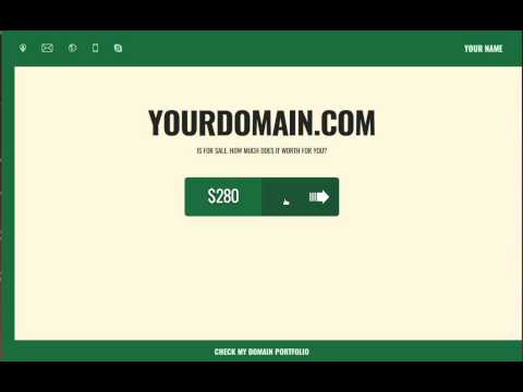 High conversional domain seller template - domain for sale page to sell domain (interface demo)