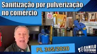 Sanitização por pulverização no comércio