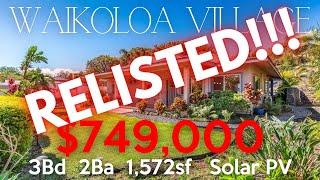 68-1780 Laie St  |  Waikoloa Village, Hawaii  |  3bd 2ba  1,572sf Solar PV