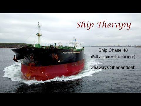 Ship Chase 48 (Full) - Seaways Shenandoah - radio calls - near miss with PV wake - Mavic Pro in 4K