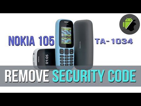 How to remove Security code on Nokia 105 (TA-1034)