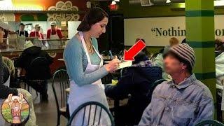 Une serveuse traita un vagabond aimablement. Quand elle sut qui c