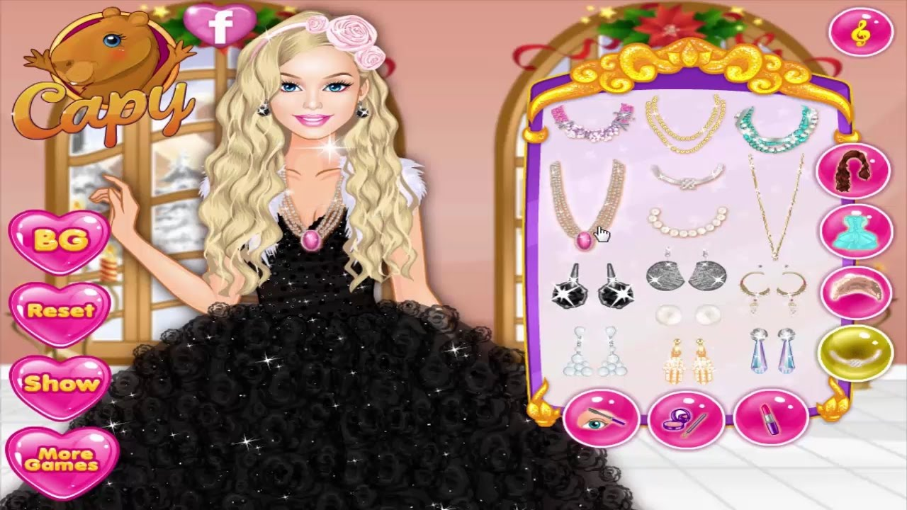 Barbie Dress Up Games Barbie Winter Prom Vs Glitter Trends YouTube - Barbie hairstyle design game