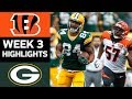 Bengals vs. Packers | NFL Week 3 Game Highlights